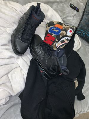 bred 9s size 11 and xl bape hoodie both authentic for Sale in Cleveland, OH