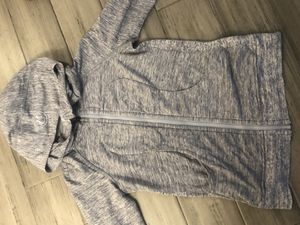 Lululemon jacket scooba hoodie jacket work our shirt grey gray for Sale in Imperial Beach, CA
