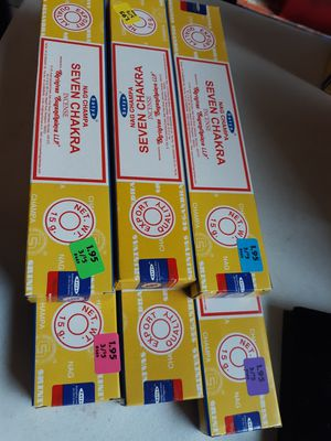 6 brand new unopened boxes of nag champa Incense sticks satya seven chakra for Sale for sale  Lancaster, OH