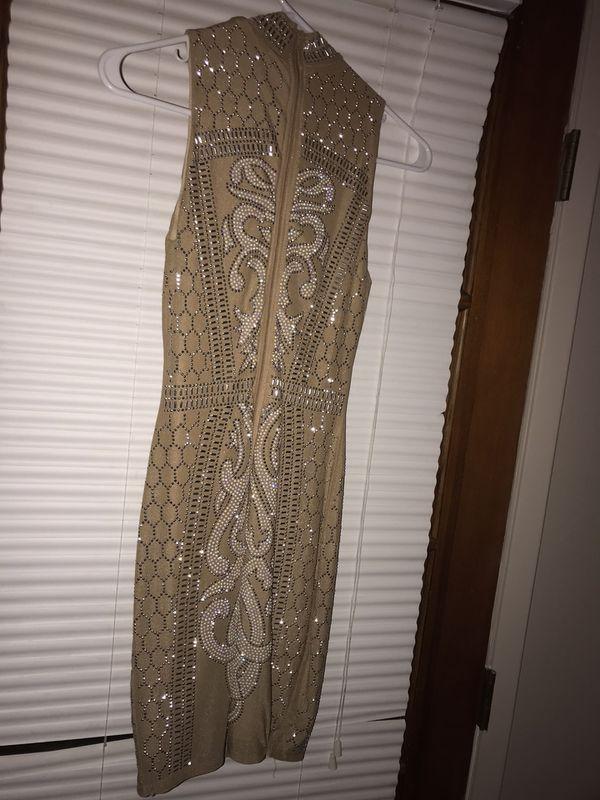 Tan Prom Or Formal Dress