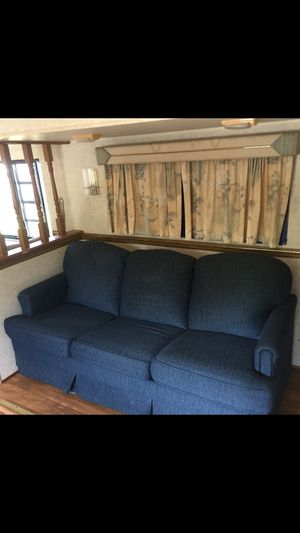 Dark blue rv camper couch for Sale in Cumming, GA