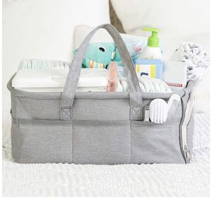Baby Diaper Caddy Organizer, Large Grey Portable Diaper Holder for Nursery or Car for Sale in Corona, CA