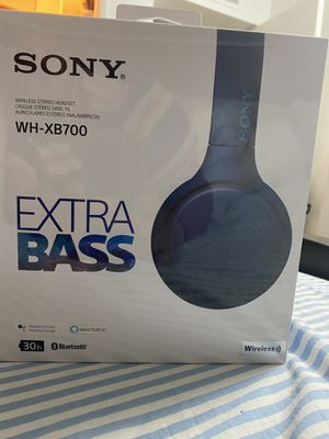sony-wh-xb700-wireless-on-ear-headphones-blue for Sale in Los Angeles, CA