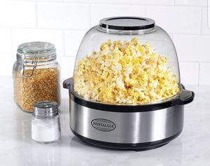 Popcorn Maker Nostalgia Quart Stainless Steel Stirring Speed Popcorn Popper Palomitas for Sale in Los Angeles, CA