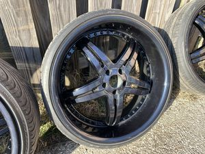 "22"" Lexani Rims with tires for Sale in Bowie, MD"