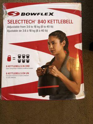 Kettlebell bowflex selectech 840 kettle bell dumbbell dumbbells for Sale in Jacksonville, FL