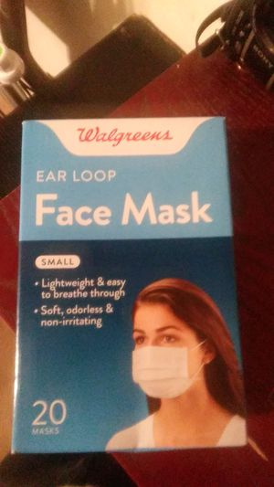 Face mask 20ct. With ear loop for Sale in Cypress, CA