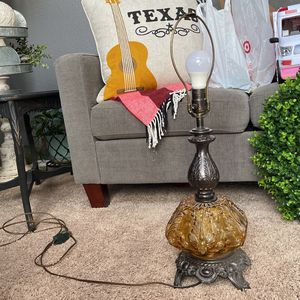 Vintage Amber Glass Table Lamp for Sale in Fort Worth, TX