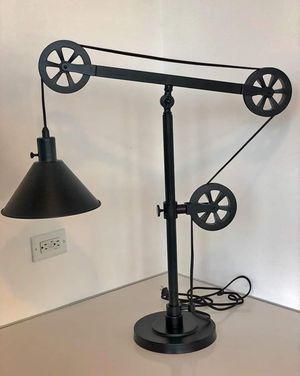 BRAND NEW! Rtl $299 Industrial Farmhouse Task Table Lamp w/Pulleys + 1 LED Light Bulb INCLUDED lk Restoration Hardware Pottery Barn RH CB for Sale in Monterey Park, CA