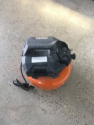 RIDGID AIR COMPRESSOR. TESTED for Sale in Barstow, CA