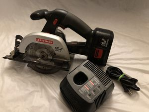 "Craftsman 19.2V, 5-1/2"" Circular Cordless Saw, w/Charger for Sale in Houston, TX"