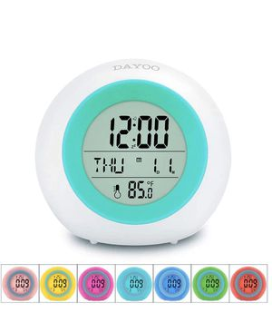 7 Color Changing Night Light Clock for Kids Bedroom for Sale in Fontana, CA