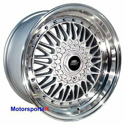 MST Wheels MT13 15 x 8 +20 Silver Deep Step Lip Rims 4x100 Stance 84 91 BMW E30
