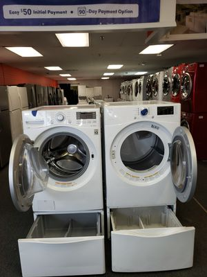 LG front load washer and kenmore electric dryer in exellent condition for Sale in McDonogh, MD