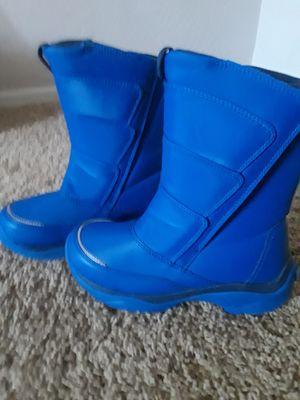 SNOW BOOTS SZ 1 KIDS BLUE for Sale in Surprise, AZ