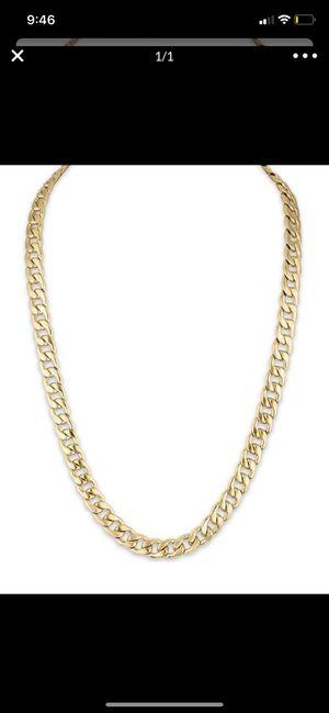 """Men's Cuban Link 22"""" Chain in 14k Gold for Sale in Norwalk, CA"""