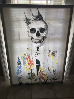 Canvas Skull Painting and Joker Painting for Sale in Wesley Chapel, FL