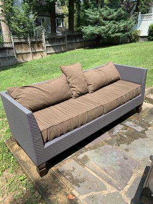 Luxurious Outdoor Couch with Cushions for Sale in Chevy Chase, MD