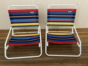 Two Rio Wave beach chairs used only once for Sale in San Francisco, CA