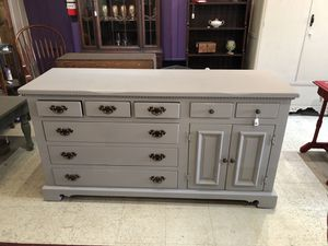 Solid pine dresser painted pebble beach USA for Sale in Walkersville, MD