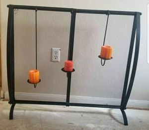 FIRE PLACE SCREEN with Removable Candle Holders (NLV CRAIG RD AND SIMMONS) for Sale in North Las Vegas, NV