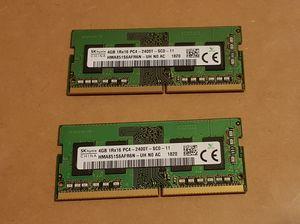 SK Hynix 8GB Kit (4GBx2) PC4-2400T 260-Pin DDR4 SODIMM Laptop Memory HMA851S6AFR6N for Sale in Renton, WA