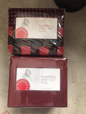 Two Flannel sheet sets, Full (Double) bed size, New for Sale in Bozeman, MT