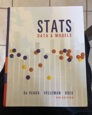 Stats Data and Models Textbook 4th Edition for Sale in Coronado, CA