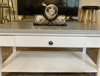 Rustic Bohemian Style Gray and White Coffee Table with Drawer for Sale in Lakewood,  WA