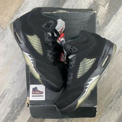 Retro 5 Jordan Size 11.5 Metallic Shoe Men's for Sale in Alexandria,  VA