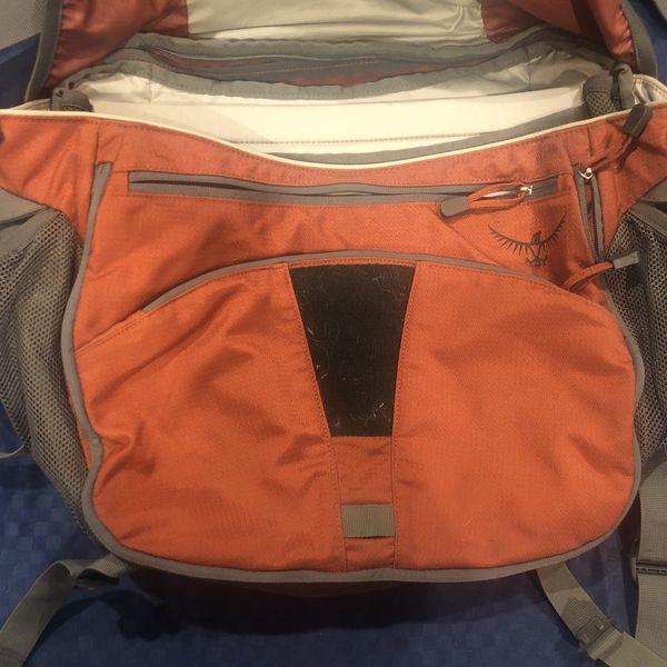 Osprey Elroy Messenger Bag Burnt Orange Travel Laptop Luggage