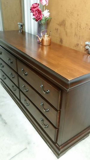 QUALITY SOLID WOOD LONG DRESSER ALL DRAWERS SLIDING SMOTHY for Sale in Fairfax, VA