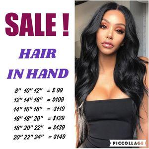 Brazilian Virgin Hair Body Wave 3 Bundles Remy Human Hair Weaves 100% Unprocessed Brazilian Body Wave Hair Extensions Natural Color for Sale in Atlanta, GA