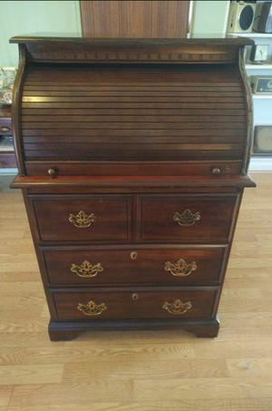 Vintage Antique Roll Top Desk 3 Drawer Dresser for Sale in Mesa, AZ