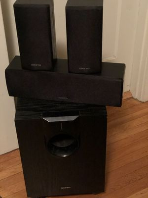 Onkyo subwoofer and surround sound speakers for Sale in Oakland, CA