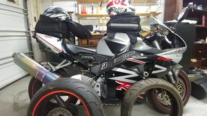2002 CBR954 with extra tires rim jackets helmets for Sale in Rancho Cucamonga, CA