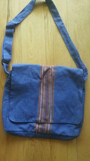 Guatemala Blue Striped 100% Cotton Zipper Purse Crossbody Shoulder Tote Purse Bag for Sale in Daly City, CA