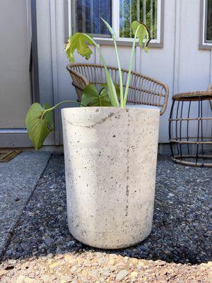 Huge Handmade indoor / outdoor plant / flower cement pot for Sale in Portland, OR