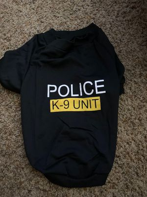 Pet police dog shirt for Sale in Bakersfield, CA
