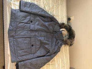 Hollister Grey Parka Jacket Size Large for Sale in Falls Church, VA