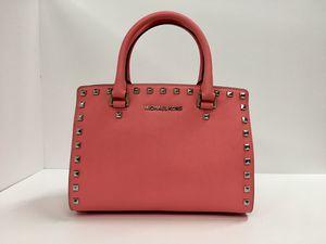 Michael Kors Selma Studded Medium Leather Messenger Bag ~ Pink/Grapefruit for Sale in Garden Grove, CA