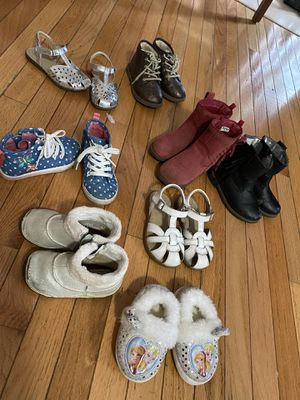 Little girl shoes bundle in good condition for Sale in Portland, OR