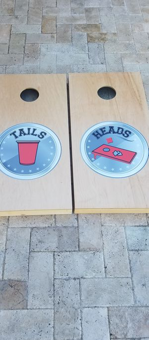 New! Cornhole lawn game set corn hole bag toss for Sale in Southwest Ranches, FL
