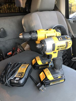 DEWALT 20-Volt MAX Lithium-Ion Cordless Drill/Driver and Impact Combo Kit (2-Tool) with (2) Batteries 1.3Ah, Charger and Bag for Sale in Austin, TX