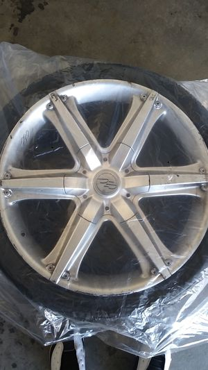 22inc rims and tires comes with everything for Sale in Lake View Terrace, CA