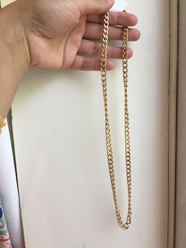 Gold filled 7mm chain necklace