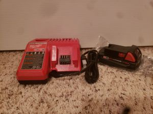 Milwaukee Duel Charger and M18 cp2.0 Battery for Sale in Pearland, TX