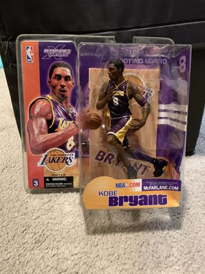 McFarlane Toys NBA Los Angeles Lakers Sports Picks Series 3 Kobe Bryant Action Figure [Purple Jersey] for Sale in Portland, OR
