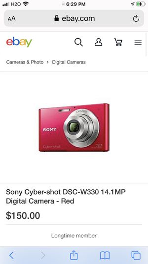 Sony cyber shot camera 14.1mm. for Sale in New York, NY