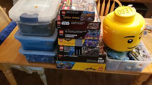 Legos lot 41 lbs in all. 30 lbs of loose legos and 11lbs of opened boxes some minifigures inside sets for Sale in Tampa, FL